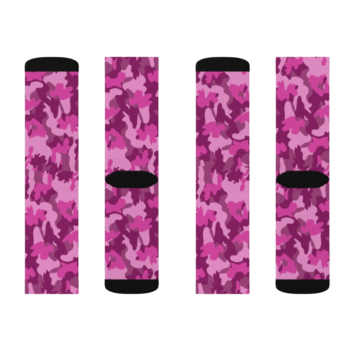 Pink Camo Socks, Camouflage Multi-color AOP Sublimation - skyrockettees