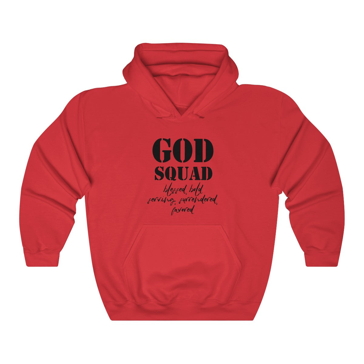 GOD SQUAD Unisex Heavy Blend™ Hooded Sweatshirt S to 5X - skyrockettees