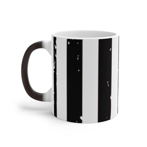 Black, White & Silver Stripe Color Changing Mug - skyrockettees