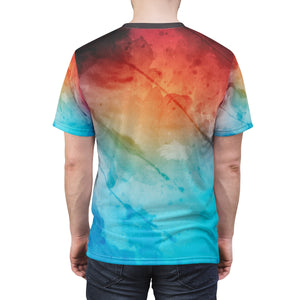Me Plus God Subtle Expressive Unisex AOP Cut & Sew Tee - skyrockettees