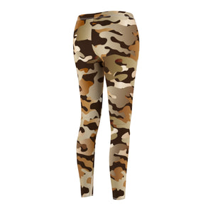 Camouflage Women's Stay Humble Leggings, Camo Casual AOP - skyrockettees