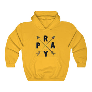 Pray Camo Arrow Unisex Heavy Blend™ Hooded Sweatshirt - skyrockettees