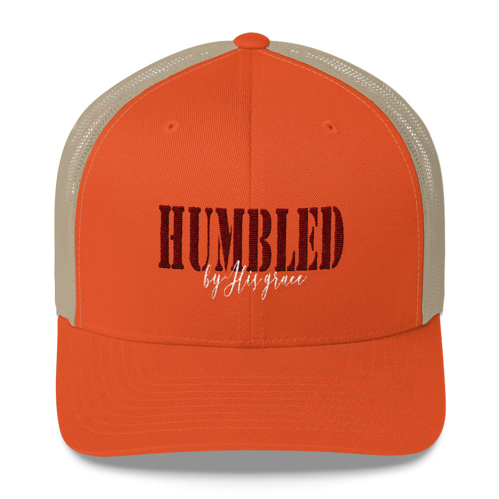 Stylish Trucker Cap HUMBLED By Grace - skyrockettees