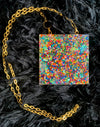 sprinkle square necklace