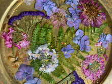 purple gold flower plate