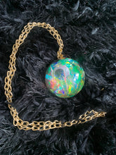 iridescent eye necklace