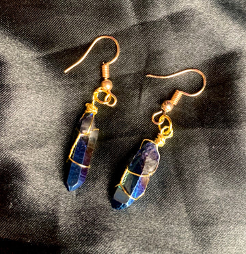 oil slick earrings
