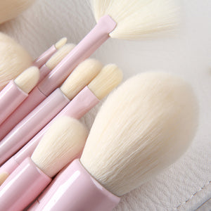 2018 Gradient Color Pro 14pcs Makeup Brushes Set Cosmetic Powder Foundation Eyeshadow Eyeliner Brush Kits Make Up Brush Tool