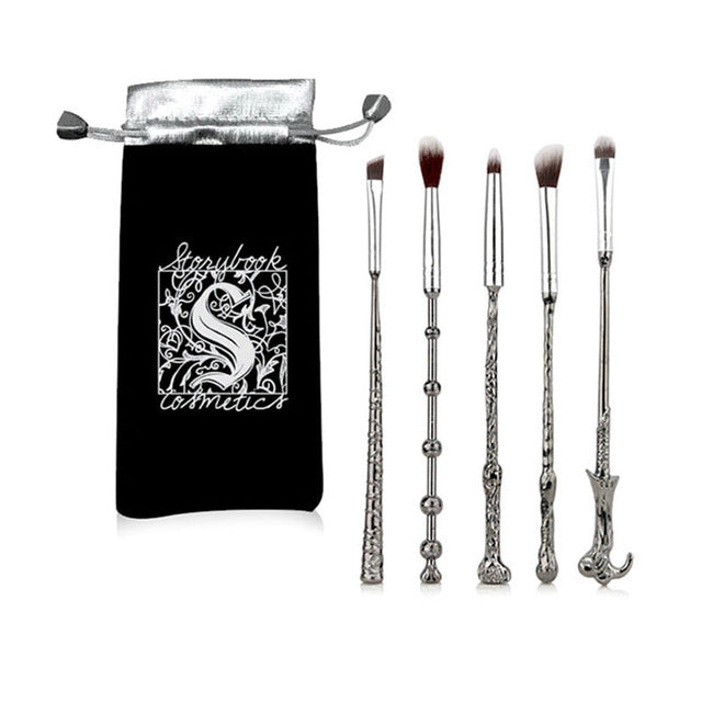Kit 5 Pinceis Varinhas Harry Potter