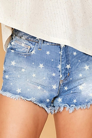 Lost In The Stars Denim Shorts