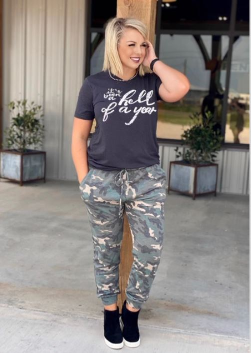 Rule The World Camo Jogger