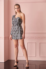 Load image into Gallery viewer, Print Y65 sequined single sleeve mini overall