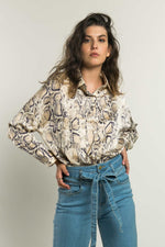 Camisa estampado animal print