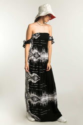 Vestido largo con estampado tie - die wash