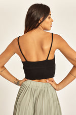 Crop top tejido escote v