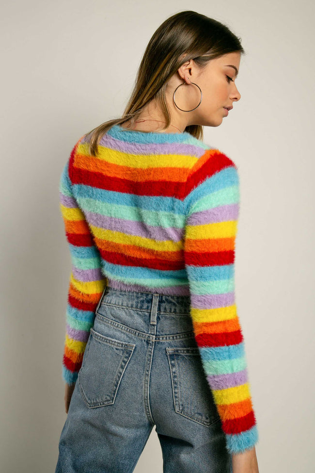 Buzo crop top afelpado colores