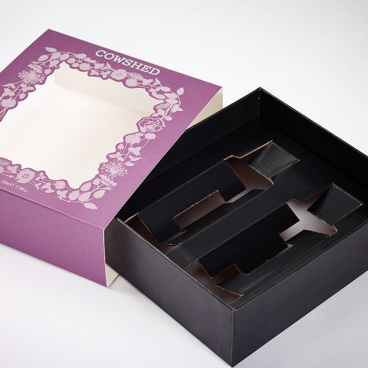 Custom Rigid Box With Corrugated Insert: Sleeve, Acetate Window
