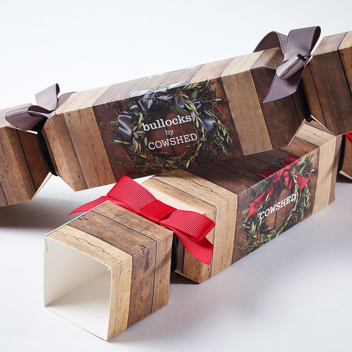 Folding Boxboard Artcard Crackers Printed CMYK with Ribbon Ties