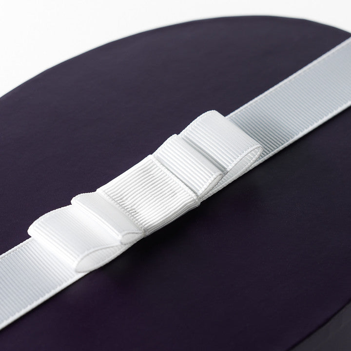 White Grosgrain Double Layer Flat Bow