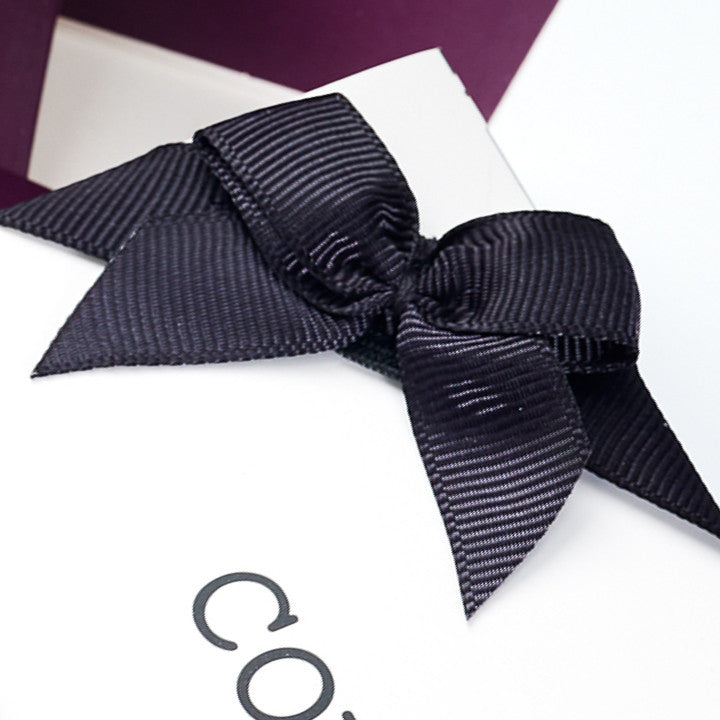 Foldabox UK Grosgrain Ribbon Pre-Tied Bow Stitched to Grosgrain Ribbon Band with Elastic Section