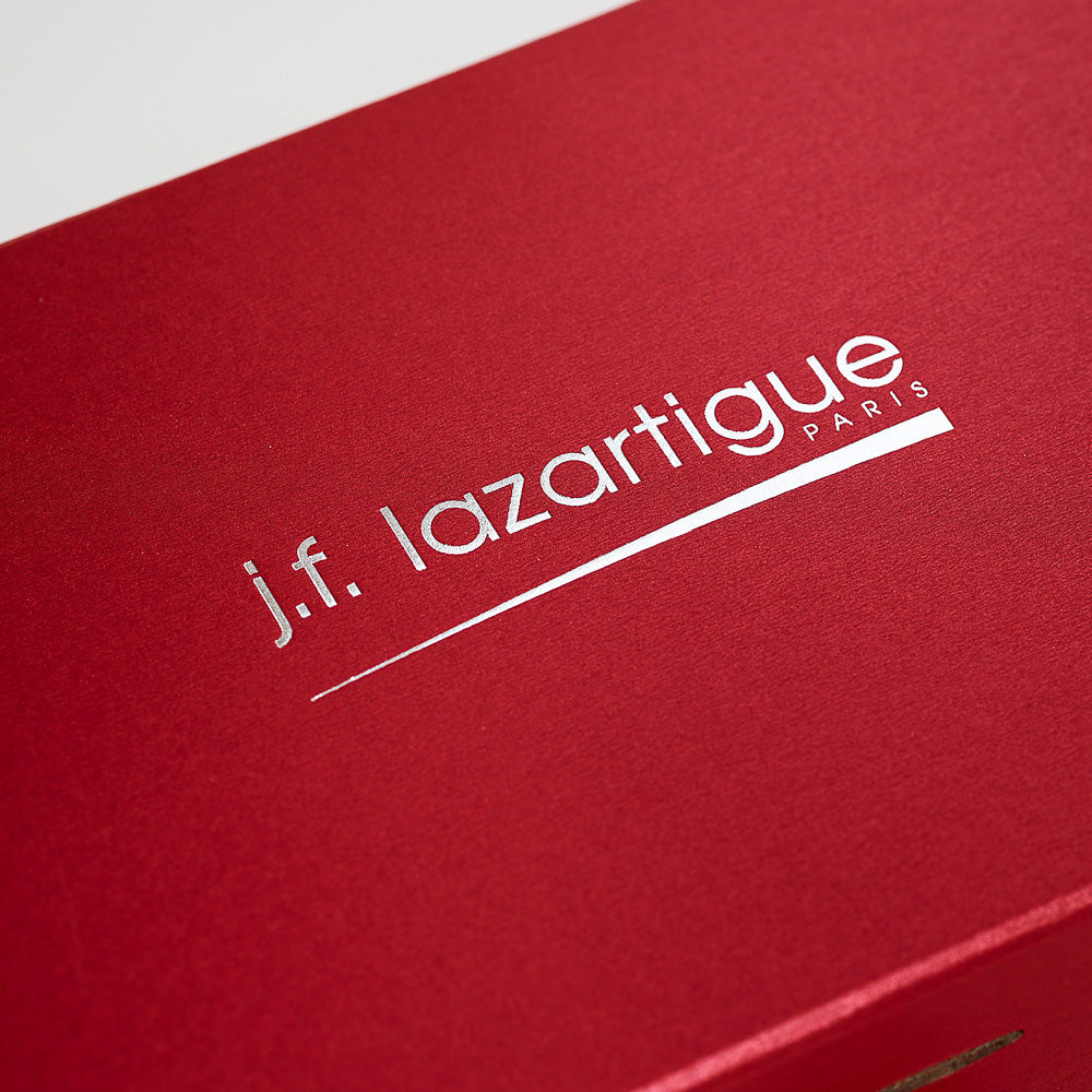 Silver Foil on Red