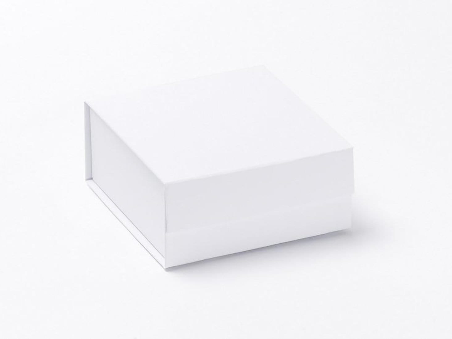 Small White Folding Gift Boxes and Jewellery Packaging available from stock