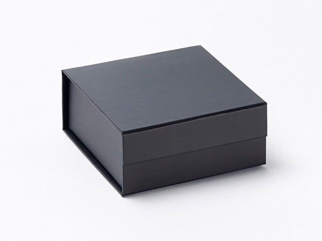 Luxury small black folding wholesale gift boxes from stock