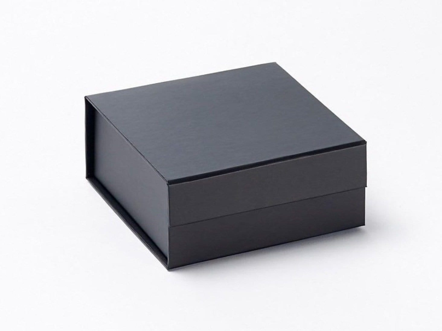 Small Black Folding Gift Box with Magnetic Snap Shut Closure