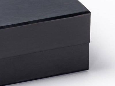 Black Small Folding Gift Box Magnetic Flap Closure Detail From Foldabox UK