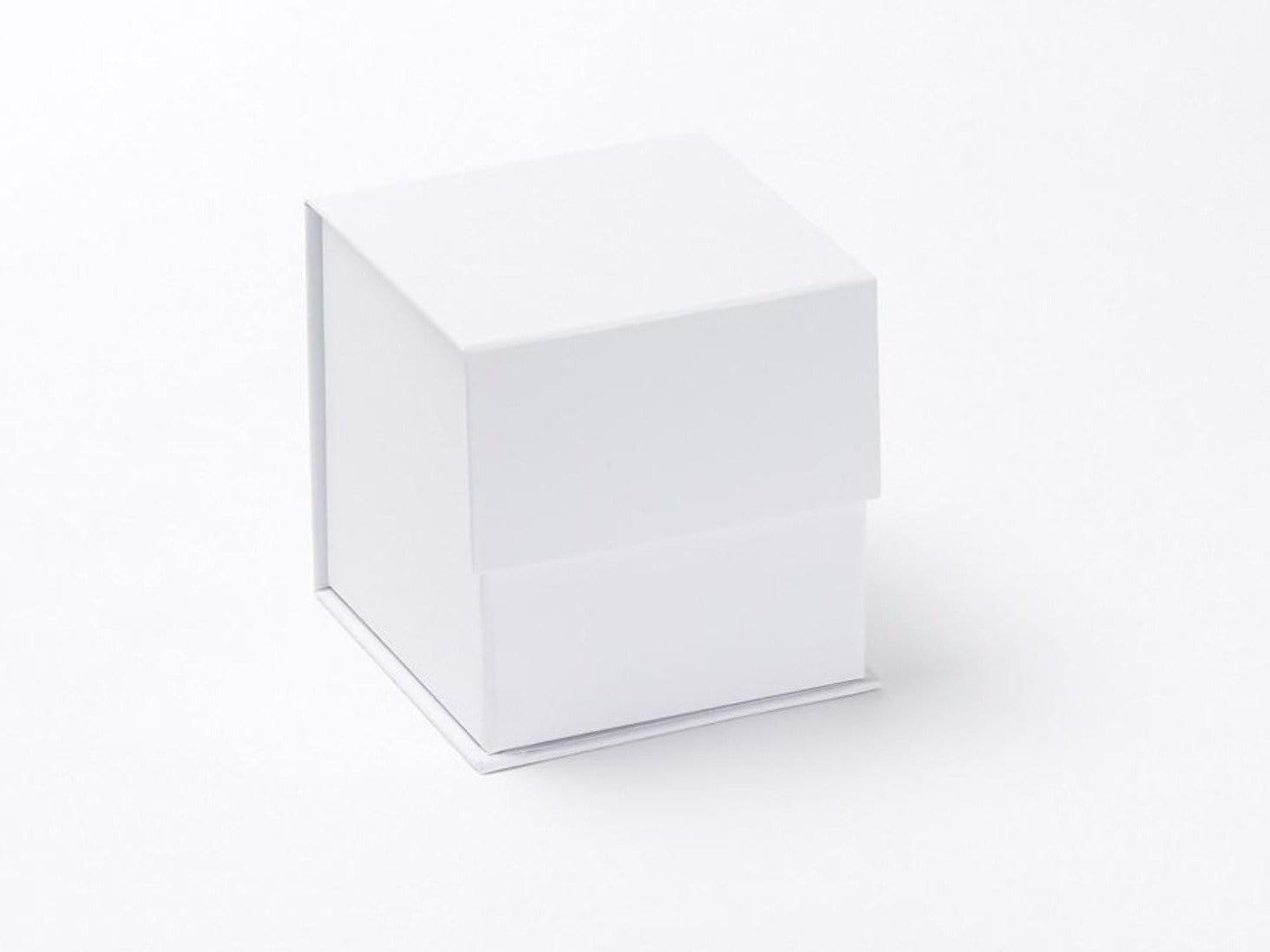 White Small Cube Gift Box without ribbon available from UK stock