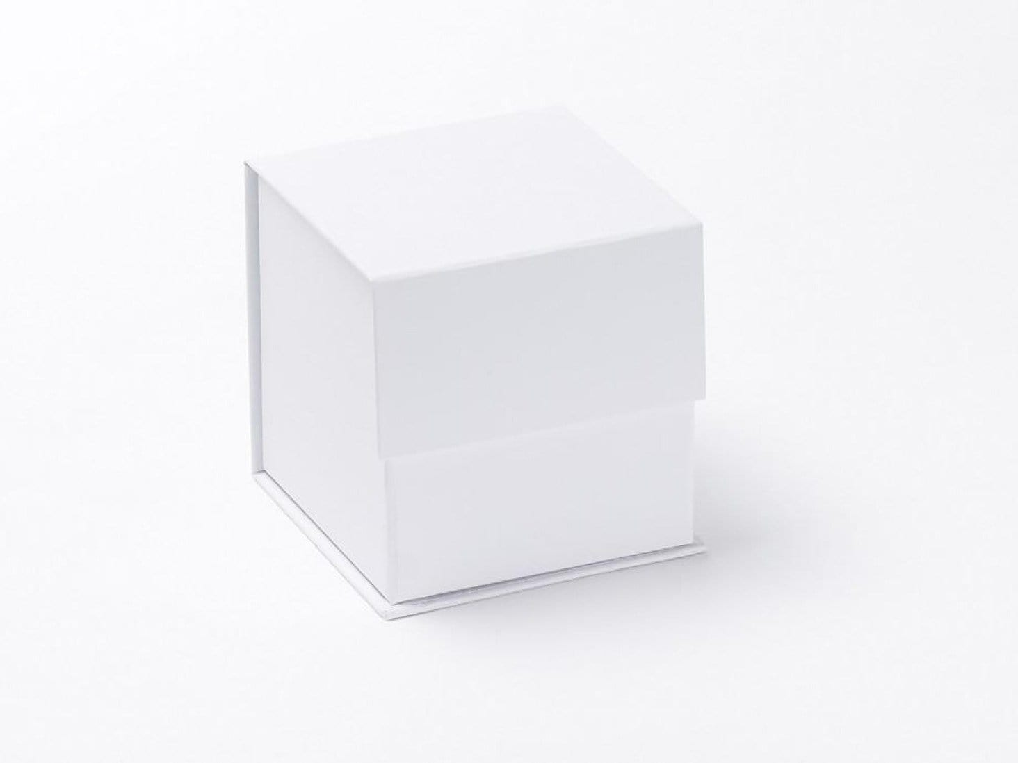 Small White Cube Luxury Folding Gift Box sample without ribbon