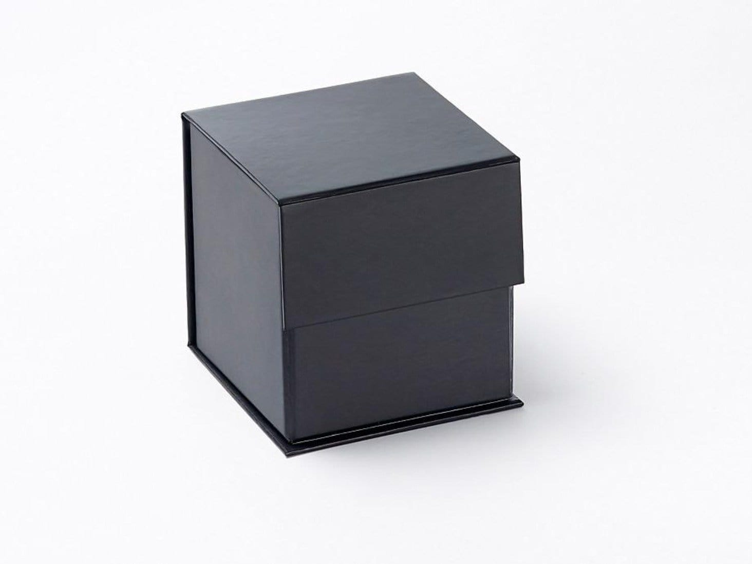 Sample Black Small Cube Gift Box without ribbon from Foldabox UK