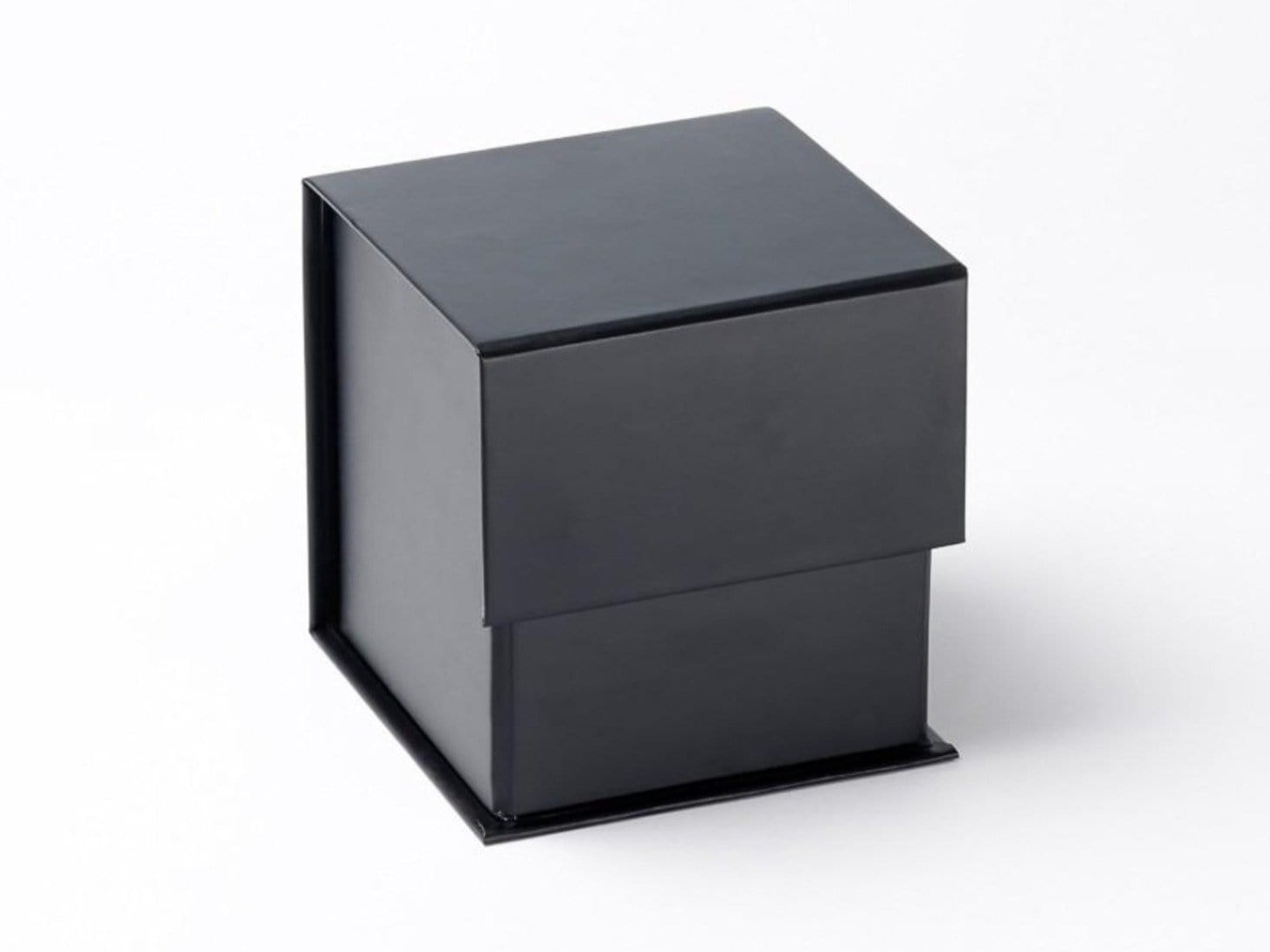 Black Large Cube Gift Box Ideal for Candle Packaging from Foldabox