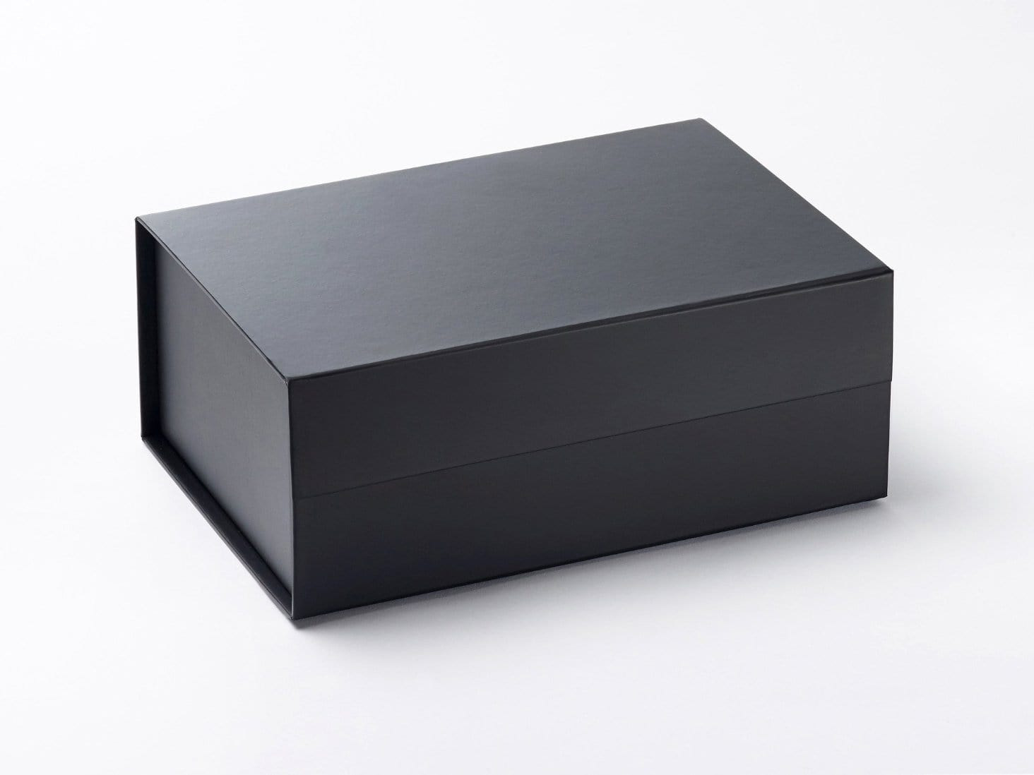 Black A5 Luxury folding Gift Box with snap shut magnetic closure