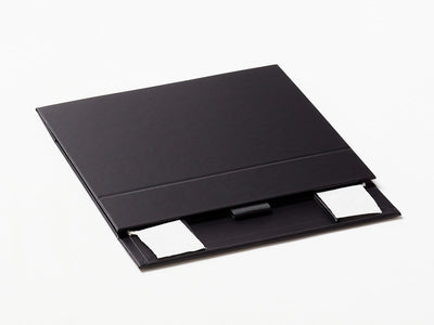 Black A6 Shallow Gift Box Supplied Flat with Ribbon Tab