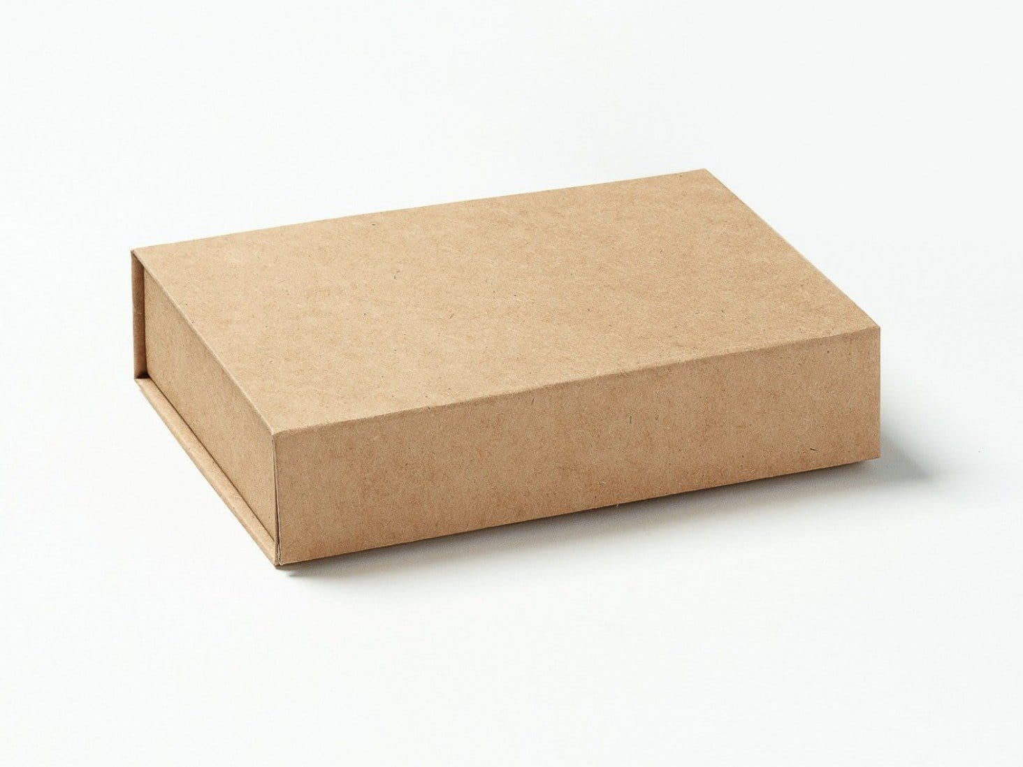 Natural Kraft A6 Shallow Gift Box Assembled