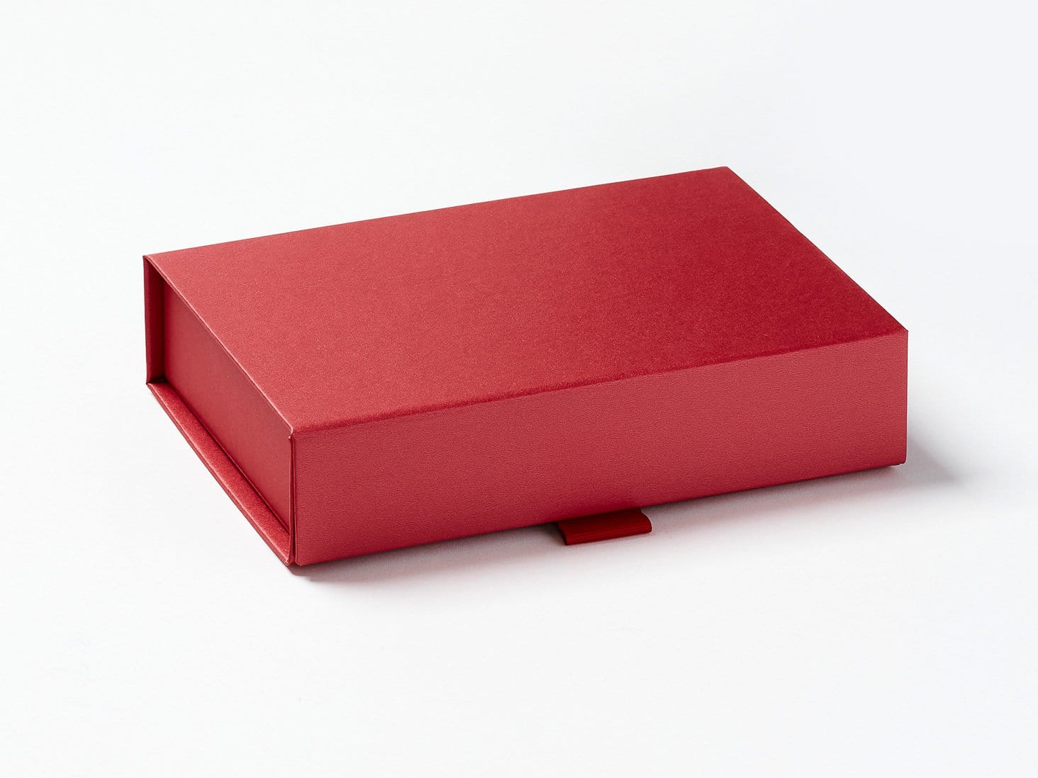 Red A6 Shallow Gift Box Sample Assembled