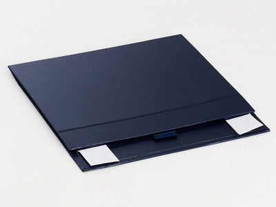 Navy Blue A5 Shallow Folding Gift Box Supplied Flat