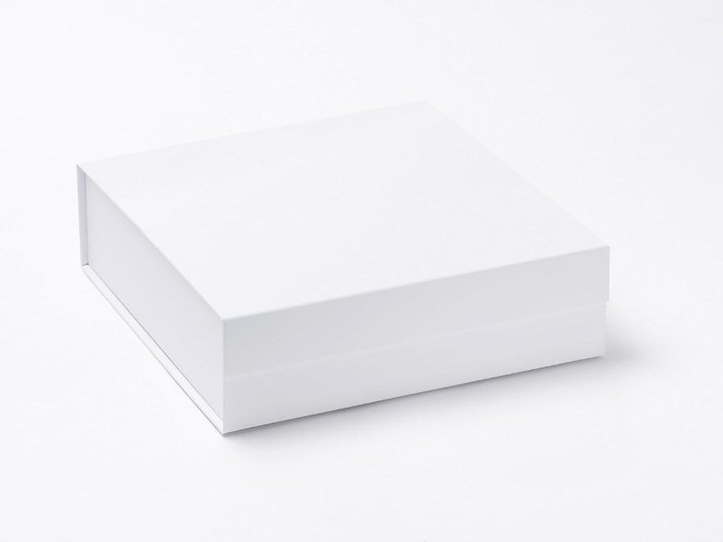 White Medium Folding Gift Box or Keepsake Hamper Box