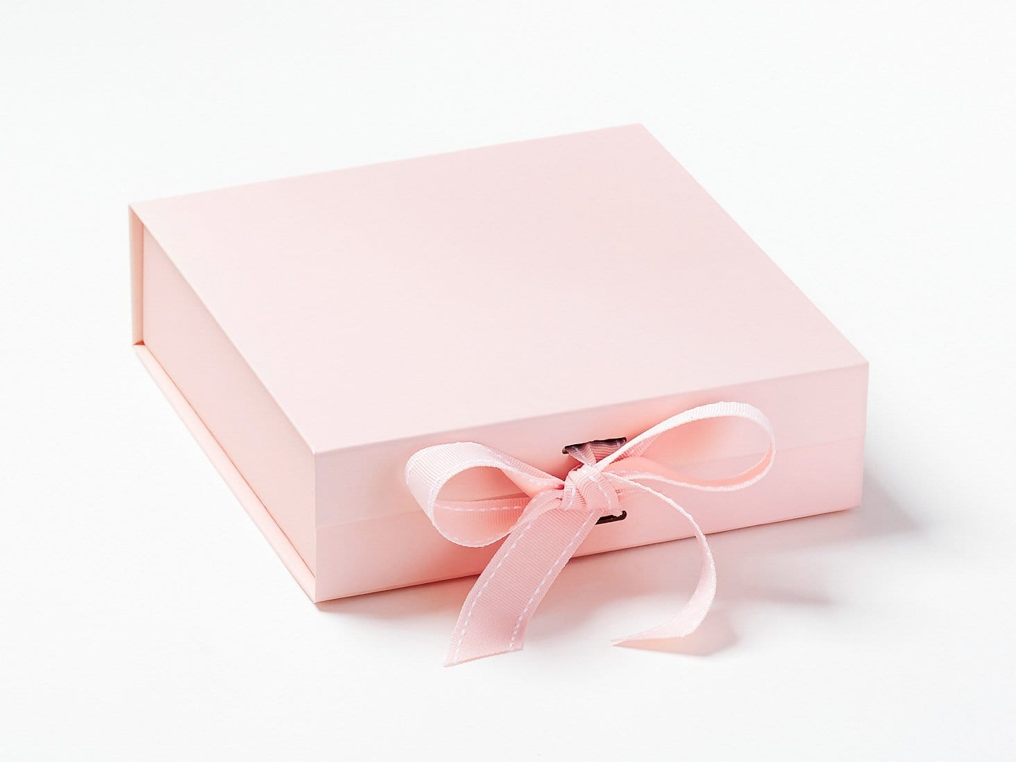 Pale Pink Medium Gift Box Sample with Changeable Ribbon