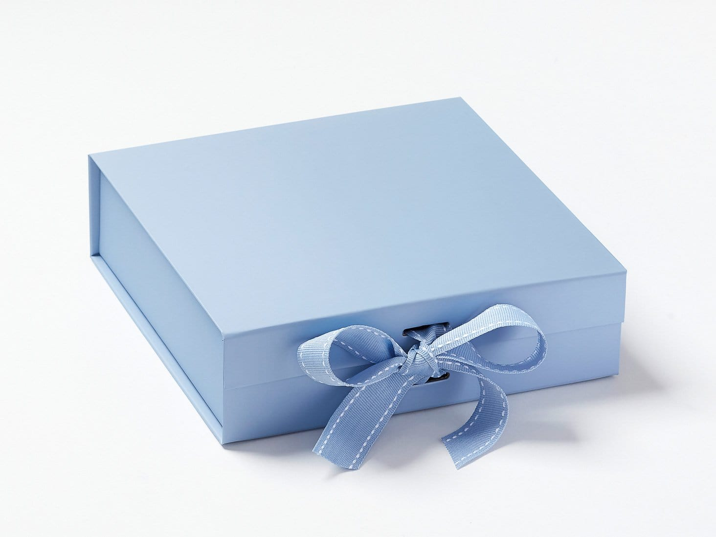 Pale Blue Medium Folding Gift Boxes  with Changeable Ribbon