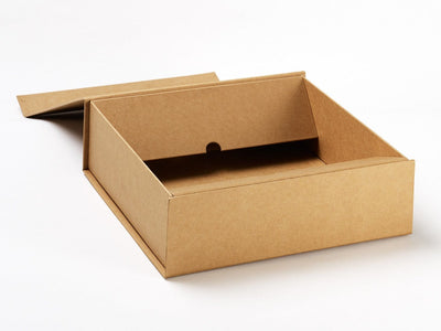 Medium Natural Kraft Gift Box part assembled from Foldabox