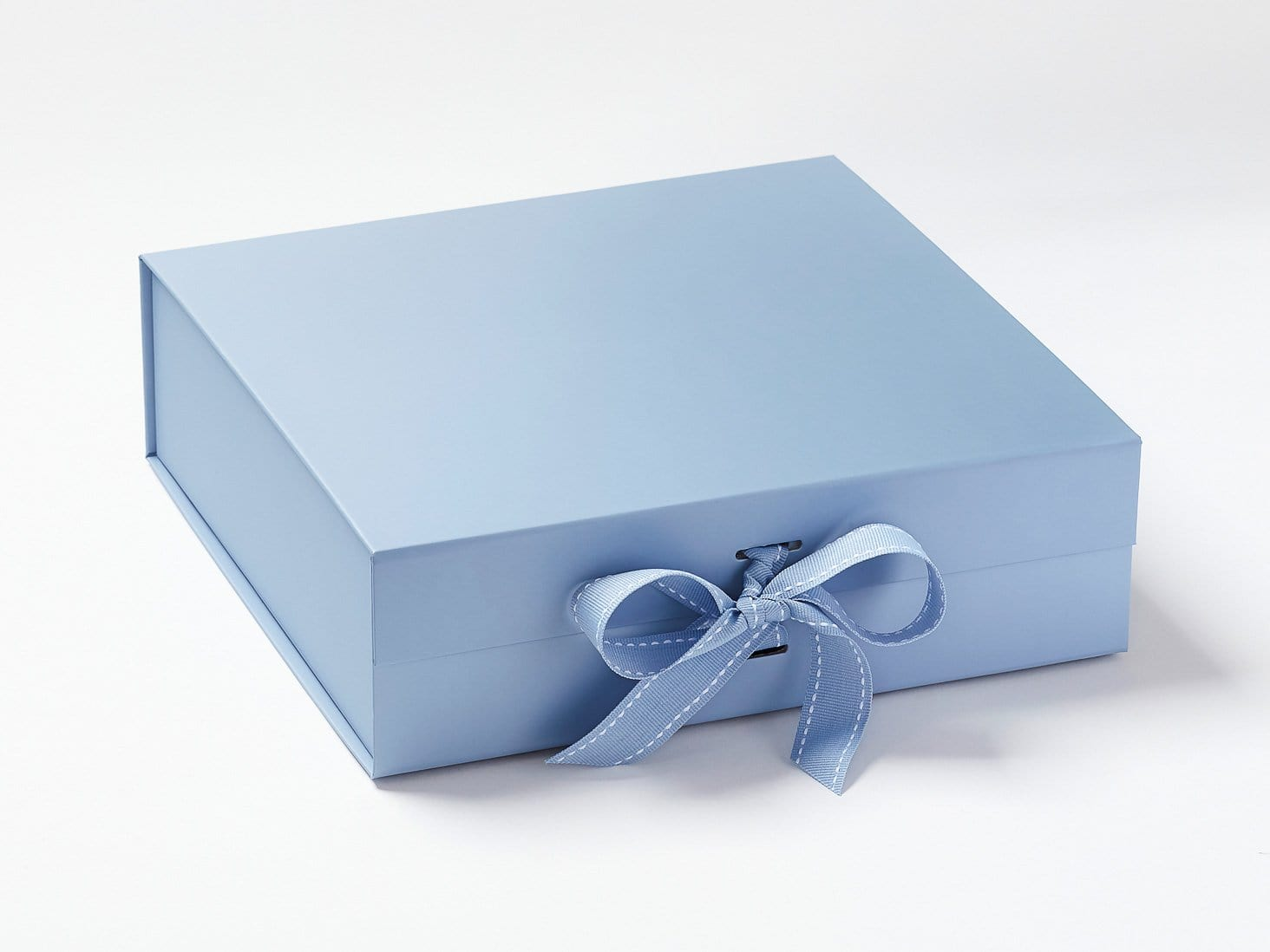 Pale Blue Large Folding Gift Box with Changeable Ribbon