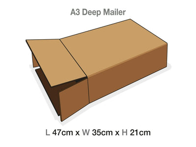Sample A3 Deep Gift Box Mailing Carton