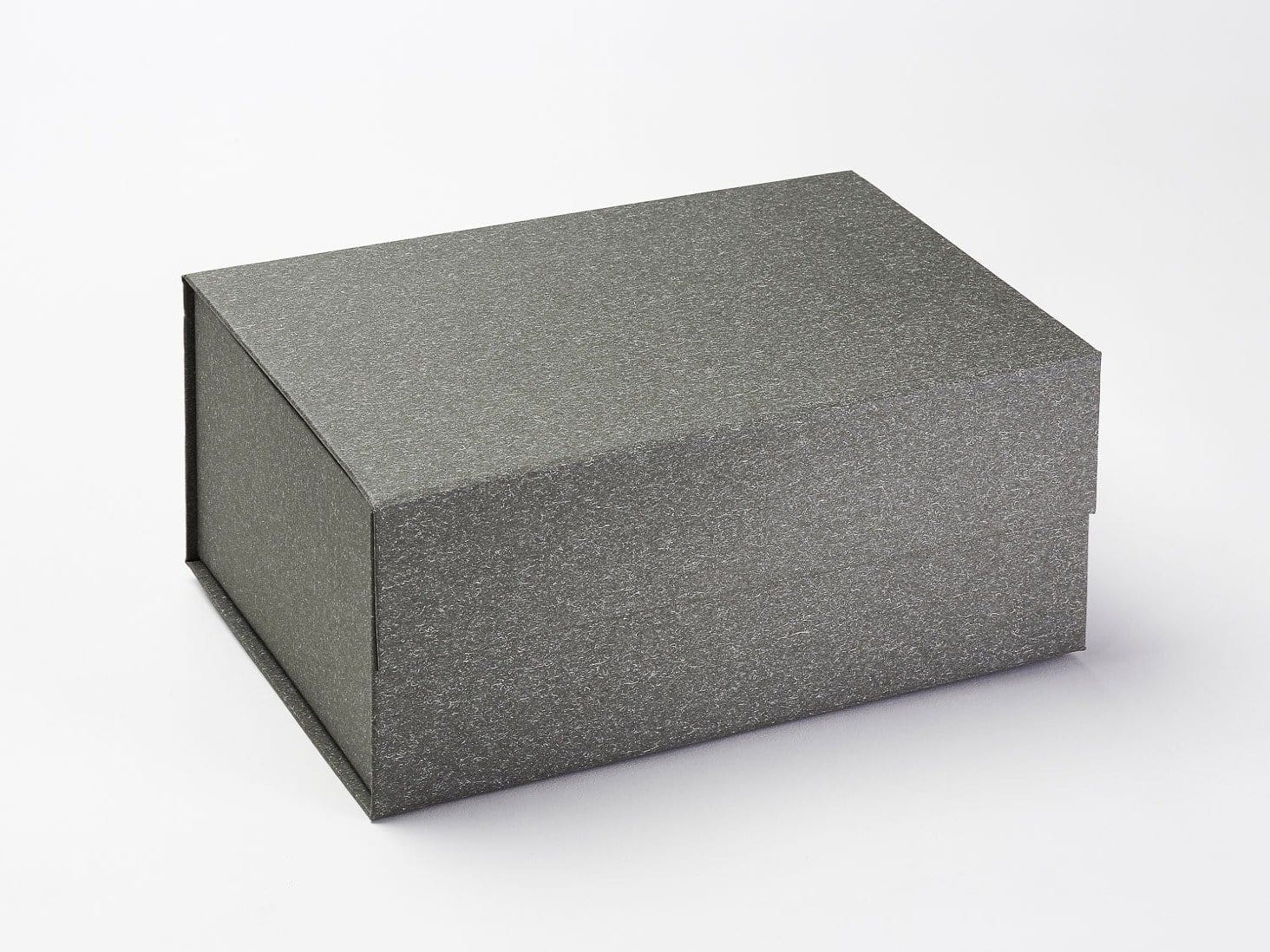 Naked Grey A5 Deep Folding Gift Box with Natural Fleck