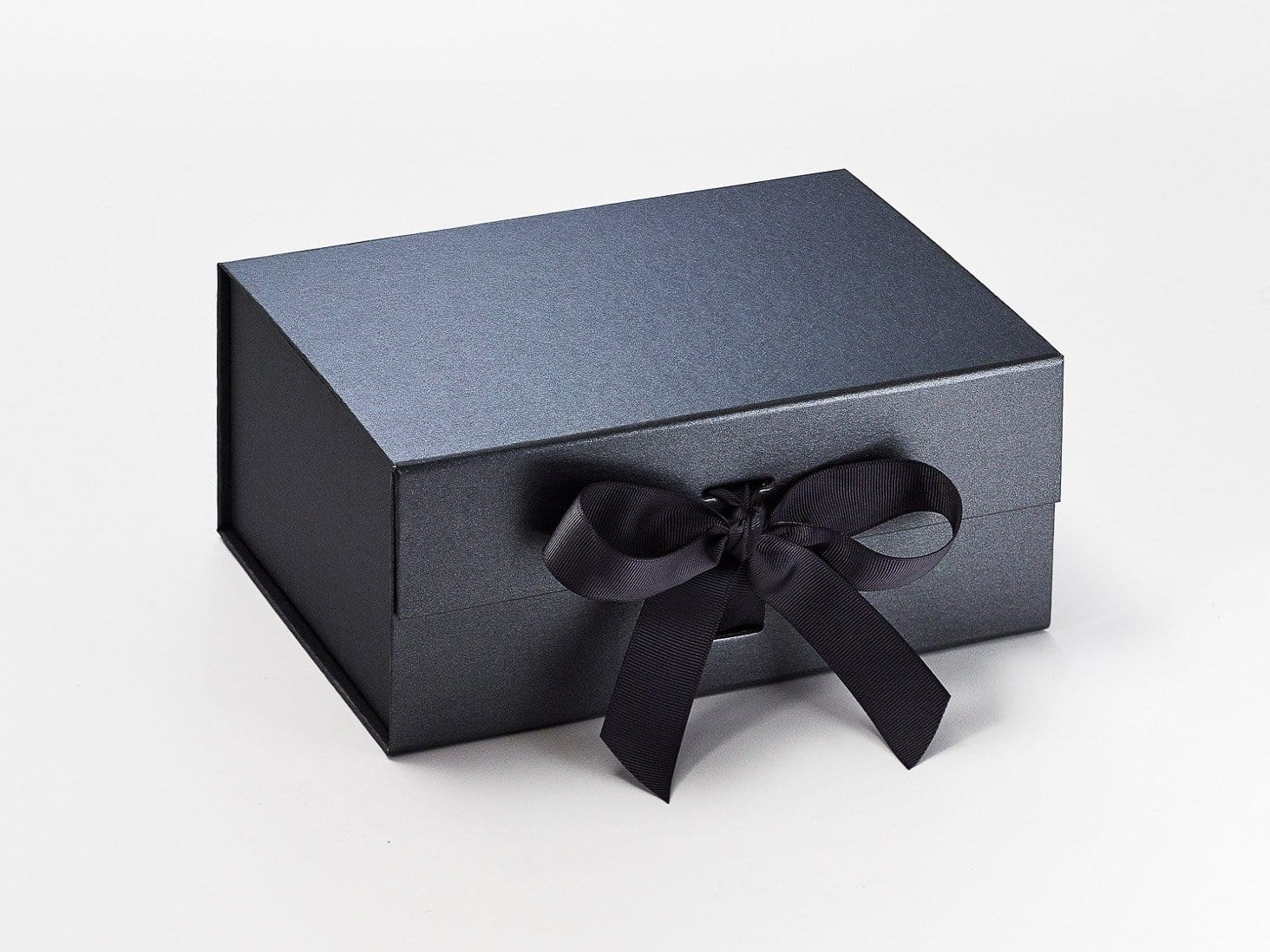 Pewter A5 Deep Luxury Gift Box with changeable ribbon