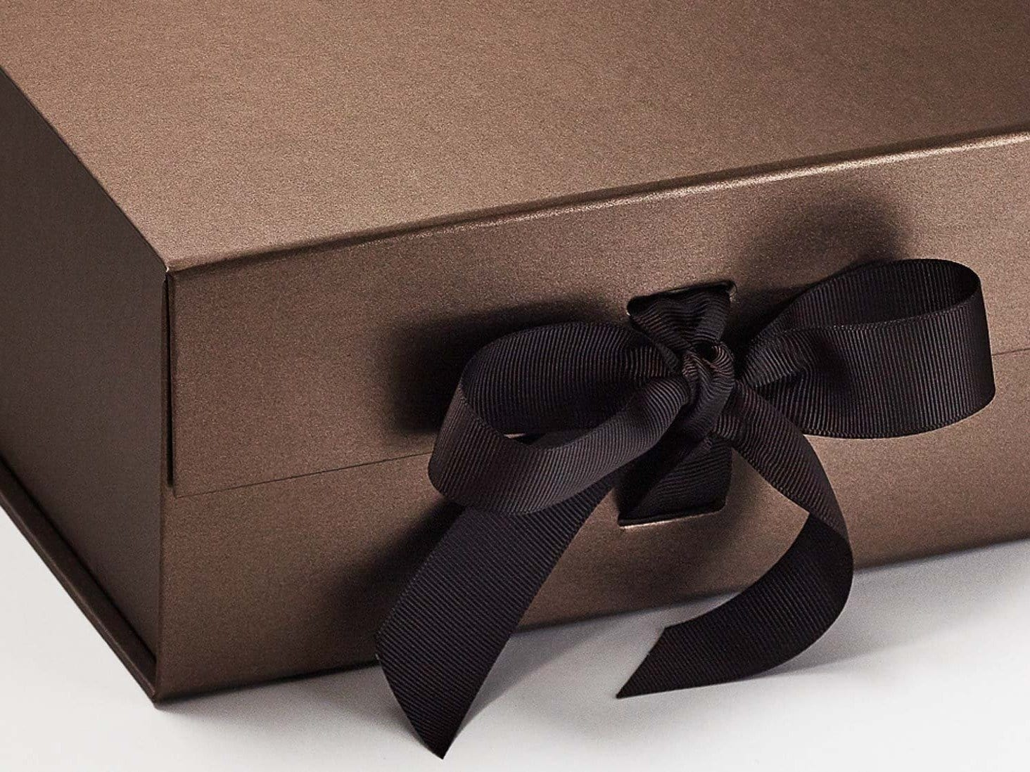 Bronze A5 Deep Gift Boxes With Changeable Ribbon