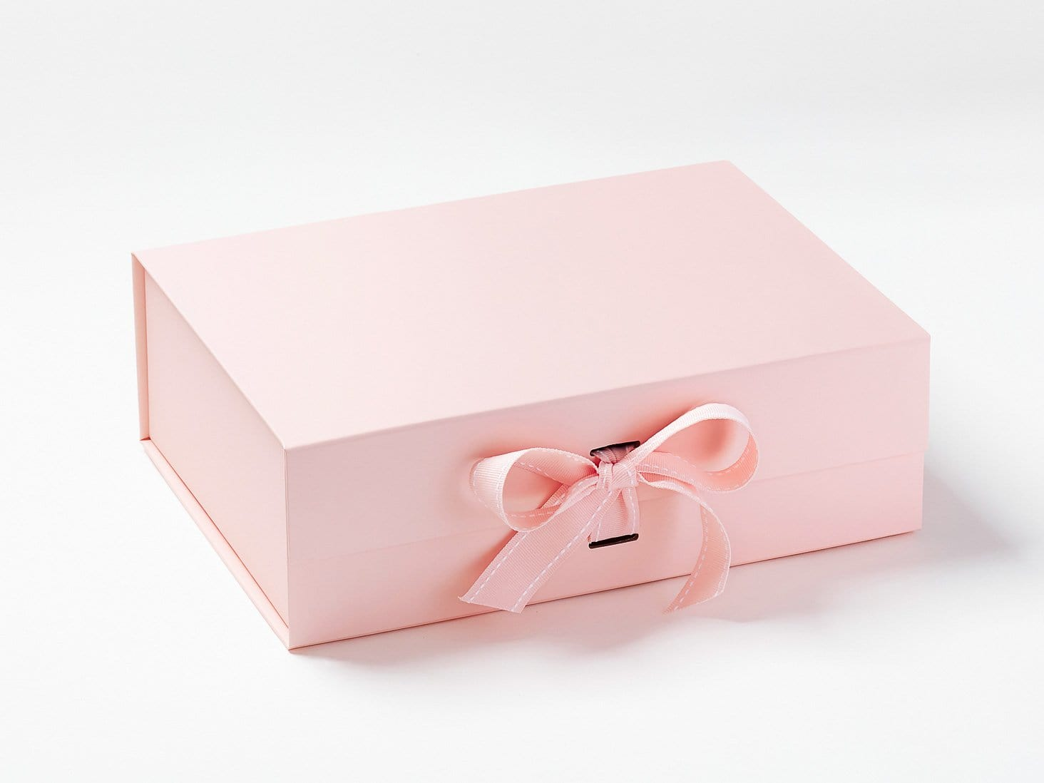 Pale Pink A4 Deep Gift Box Sample with Changeable Ribbon