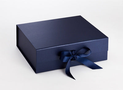 Navy Blue Gift Box Supplied with Peacoat Ribbon