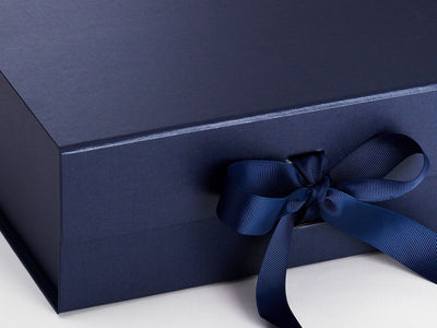 Navy Blue A4 Deep Folding Gift Box Sample